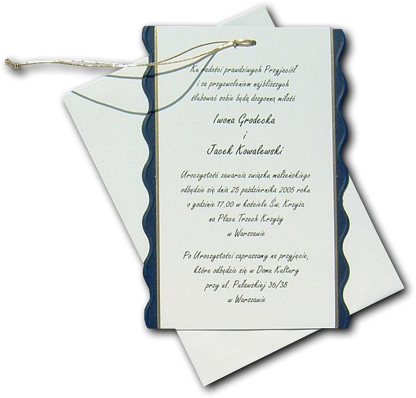 Zaproszenia ślubne Komunijne Firmowe Najnowsze Wzory Zaproszeń